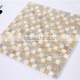 SMS04 New Product Beige Stone Mix Glass Mosaic Decorative Wall Tile Kitchen Design mosaic