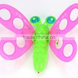 colorful butterfly singing toy sound with led light in fly, led butterfly lamp with sound