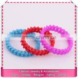 Best quality braided silicone chain bracelets, hot sale name rubber band bracelet