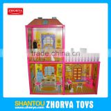 Zhorya Good Quality Delicate Doll House Play Set Beautiful Design DIY Doll House For Girls