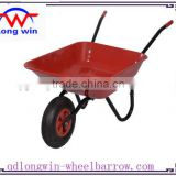 Green Tray 4-cu-ft. Folded steel Wheelbarrow wb4024