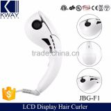 New Arrival 2016 Rotating Curler As Seen On TV LCD Electric Hair Roller Auto Curl Ceramic Hair Curler