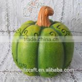 Custom hand carved creative green pumpkin halloween item in stock