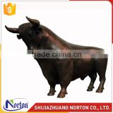 Life size brown bronze bull statue used for decor NTBH-046LI