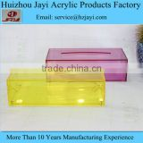 Cutom printed Acrylic Tissue box clear plastic paper display holder