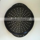 EMOER Wholesale Round Carbon Steel Pizza Pan With Hole