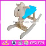 2016 best sale kids wooden toy rocking horse, top popular baby wooden toy rocking horse W16D055