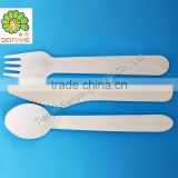 stripe wooden utensils,crafting spoons forks knives weddings parties banquets disposable wooden cutlery