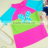 2 Piece Wholesale Summer Product Design Butterfly Children Swimwear Baby Girl Swimsuit 2017
