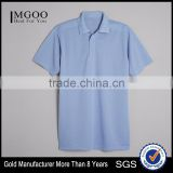 Three Gripper Front Placket Mens Polo Company Uniform 100% Polyester Pique Material Customize Color Brand Logo Worker Suit