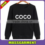 Wholesale Custom 100%Cotton Flannel Fitness Crewneck Long Sleeve Casualwear Sweatshirts Printing