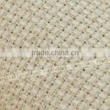 Wholesale hand craft high quality China 100% cotton fabric 14 CT clear hole Flax color cloth cross stitch cottonfabric
