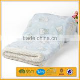 100% polyester superfine fiber custom anime rotary printed fake fur thermal blanket