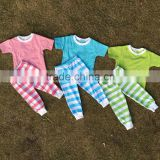 Wholesale baby girl and boy Easter day pajamas sets child benifun kids wear firm boutique easter stripe pajamas