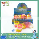 hot toys for christmas 2013,plastic rocking toys for kids,kids spring toys,neon color rainbow circle spring ZH0906817