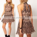 Lace Animal Border Print Dress india wholesale clothing casual dress