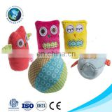 Lovely educational baby toy bowling set fashion soft stuffed plush animal customized bowling ball