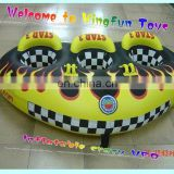 Hot air weled inflatable flying UFO/water sport games