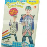 DIY painting non-woven knight cosplay costume for kids
