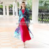 2016 spring summer latest fashion new Muslim women long printing Cardigan New Style Cardigan women kimono
