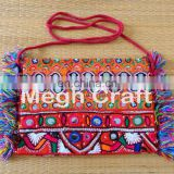 Bohemian Pom Pom Clutch- Handmade Designer Clutch wallet Purse- Indian Embroidery Clutch Purse