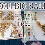 INDIAN WEDDING JEWELRY NECKLACE SET BUY 1 GET 1 FREE!!..