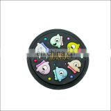 cute PVC coaster/cup pad as kids' gifts for promotion & advertising