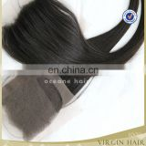 cheap hair closures virgin peruvian hair silk base closure 4*4 lace closure