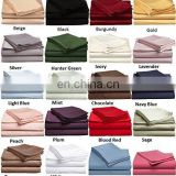 Luxury solid color fitted sheet sets brushed microfiber