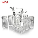 Hot sale 1420ml machinemade custom diamond glass pitcher set