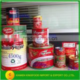 70g-4500g Canned Tomato Paste/Sauce with Brix Customised                                                                         Quality Choice