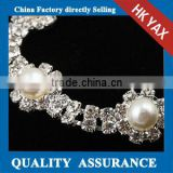 W0319 fashion rhinestone appliques trim for shoes,wholesale beaded crystal appliques trim