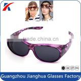 Popular eye protective funny neon frame demi safety fitover glasses                                                                         Quality Choice