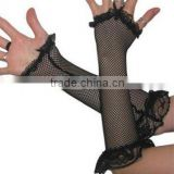 Lace Black Fingerless Fishnet Gloves