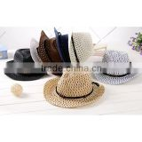 2015 new outdoor cheap Summer fashion Straw Hat Children hat cowboy hat bulk straw cowboy hats