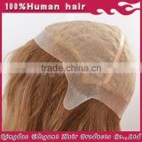 Qingdao Elegant 2015 hot sale brazilian human hair silk top thin skin perimeter full lace wig