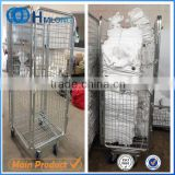 Foldable laundry storage metal mesh trolley