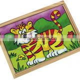 educatinal toy wooden animal jigsaw puzzle game