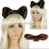 beautiful butterfly style synthetic chignon hair wig accessory with clip