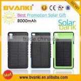 2016 newly arrival top selling solar usb charger 8000mah portable solar power bank for mobile phones solar charger paypal accept