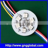 6 SMD5050 diameter 38mm greyscales 256 RGB DC24V PCBA digital led pixel module light PCB LED