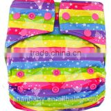 Pul fabric waterproof Bamboo Charcoal Cloth baby Diapers with hip snaps