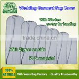 Zipper Plastic Cloth Garment Cover/ Wedding Dress Garment Bag Cover/ Suit Garment Bag Cover