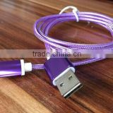 Classic Nylon braided MFi certified 2.0 USB phone charging data mfi usb cable for Iphone 5s, 6s for all iso 9.0