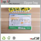 PP A4 slide zip lock document file zipper bag with card holder