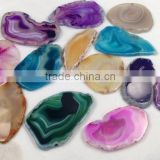 Factory Direct Wholesales Good Quality Natural Agate Slices Dyed Agate Slices for Jewelry Making