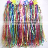 Beach festival party hawaii costume flower decoration hawaii straw skirt witn fashion design BWG-2091