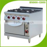 Restaurant Equipment Heavy Duty 4 Burner Cast Iron Gas Cooker With Oven                                                                         Quality Choice