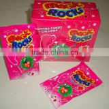 Magic rock pop candy with foot lollipop
