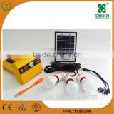 Small Solar Indoor Lighting System 2w6v solar panel system with usb mini light and cellphone charge